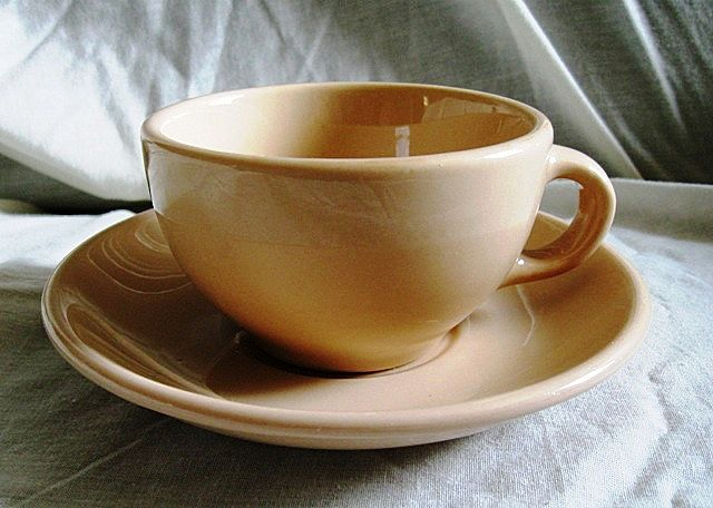 Mayer China Mayan Ware Cup & Saucer Restaurantware Set Tan