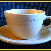 Syracuse China Tan Econo Rim Cup & Saucer