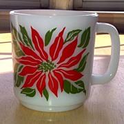 McKee Glasbake Poinsettia Mug