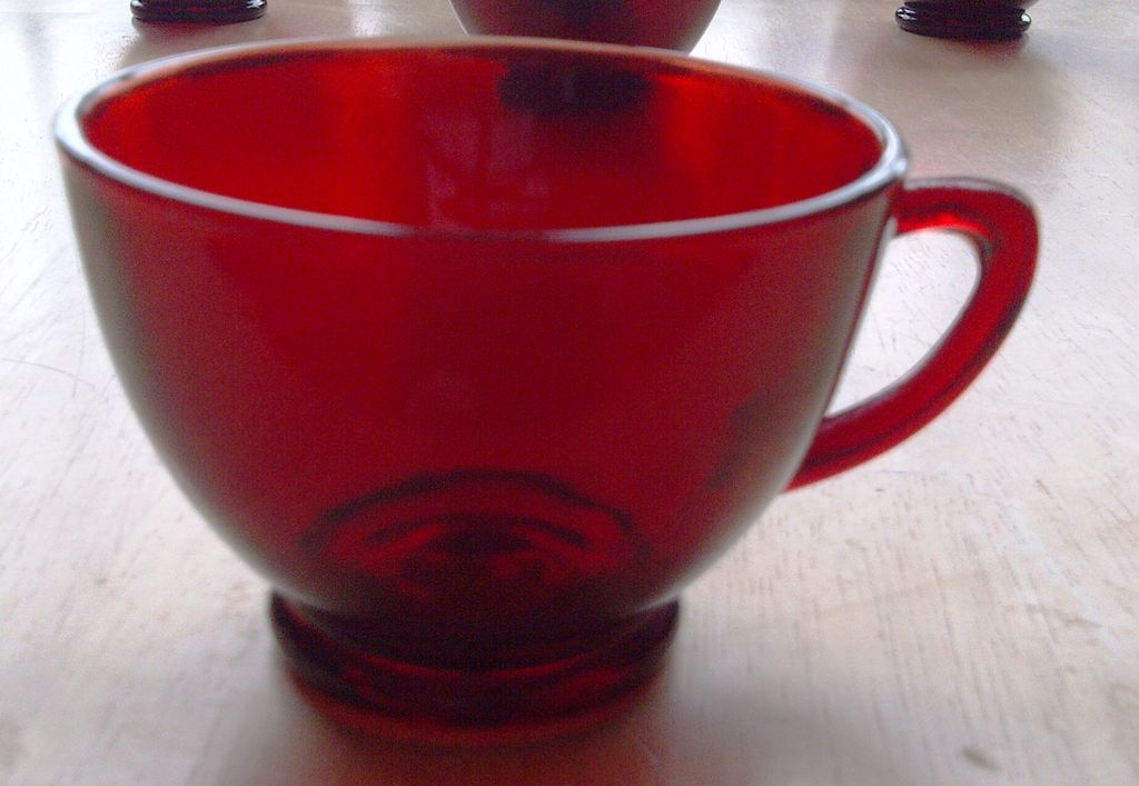Anchor Hocking Royal Ruby Punch / Snack Cup Set