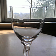 "Lenox Crystal Wine Glass ""Elegance"" Pattern Platinum Trim"