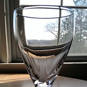 Lenox Crystal Wine Glass Encore Pattern Platinum Trim
