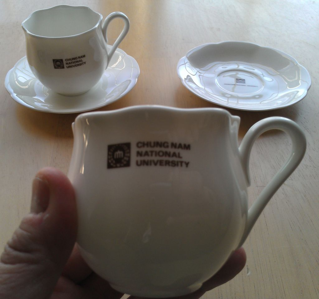 Chungnam National University Cup and Saucer by Hankook