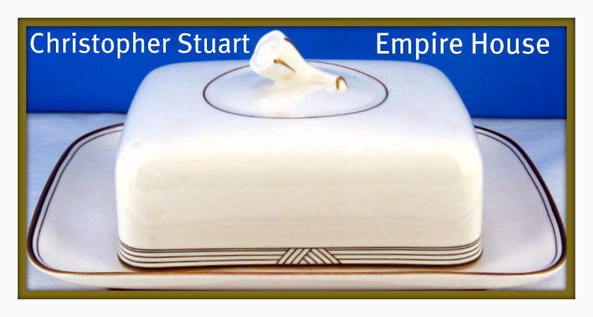 Christopher Stuart Empire House Butter Dish
