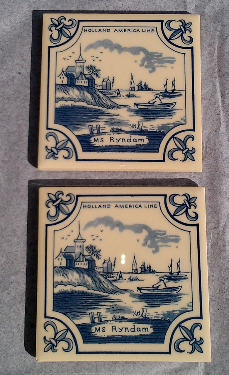 Holland America Line MS Ryndam Delft Coaster Set