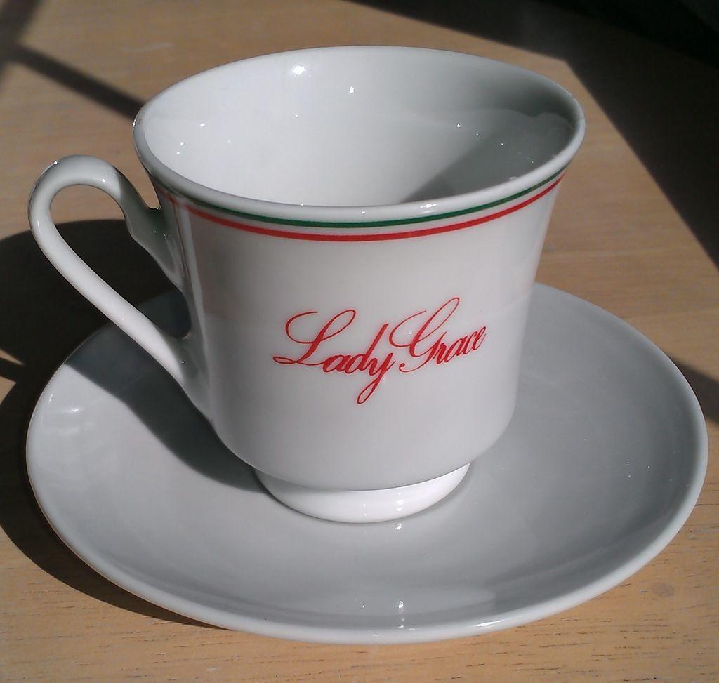 Lady Grace Espresso Cups and Saucers Set