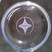 Sheraton Hotel Early Logo Ashtray