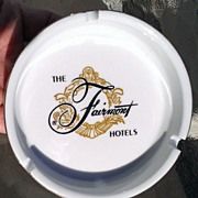 Fairmont Hotels Vintage Ashtray