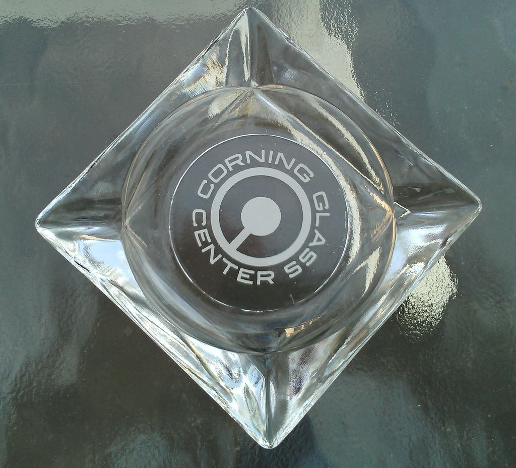 Corning Glass Center Ashtray Advertising Piece