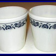 Pyrex Old Town Blue Mugs ~ Set of 2