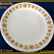 Corning Corelle Butterfly Gold Luncheon Plates ~ Set of 2