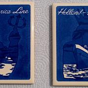 Vintage Holland America Line Ryndam - Maasdam Coaster Set