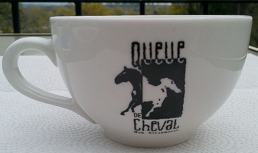 Queue de Cheval Bar & Steakhouse Coffee Cup