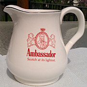 Ambassador Scotch Whiskey Water Pitcher / Jug