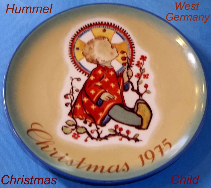 Hummel Christmas Child 1975 Plate