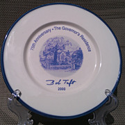 75th Anniversary of the Ohio Governor's Residence Memorial Plate