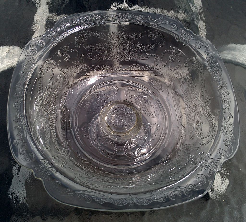 Indiana Glass Recollection-Clear Madrid Footed Bowl