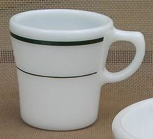 Corning Pyrex Green Band Mug