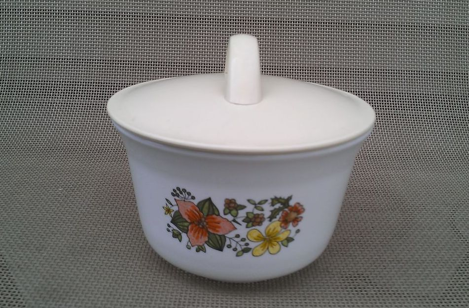 Corelle Wild Flower Covered Sugar