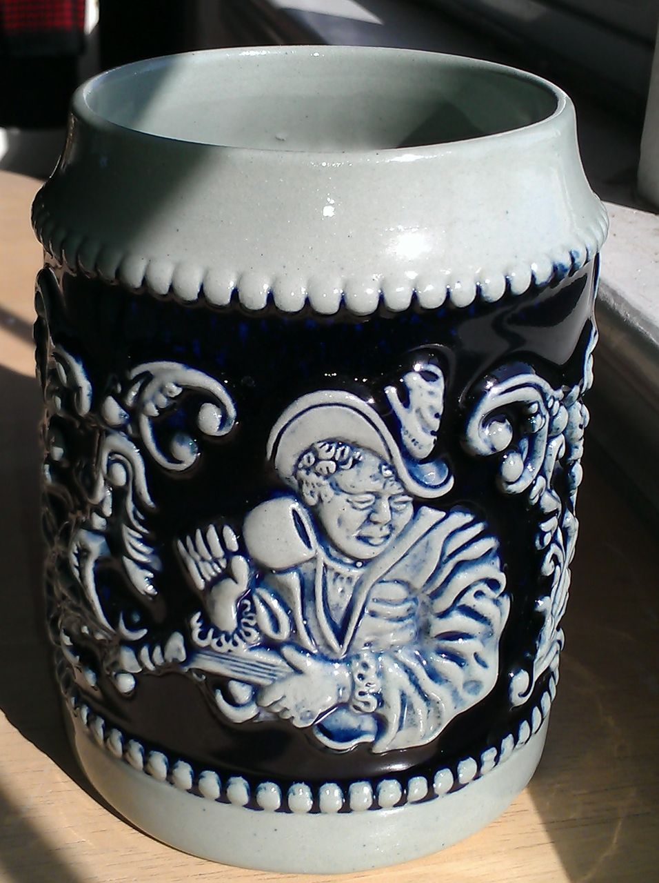 Cobalt Blue Salt Glaze German Beer Stein