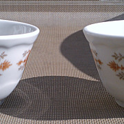Syracuse China Grecian Pattern Bouillon Cup Set