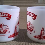 Nebraska State Federal Glass Mug Set