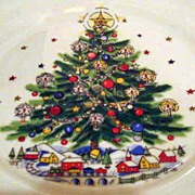 Salem China Christmas Eve Tidbit  Serving Tray