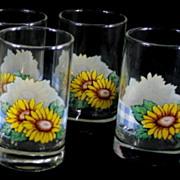 Corelle Impressions Glassware Sunsations Juice Glasses ~ Boxed Set of 4