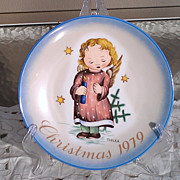 Hummel 1979 Christmas Starlight Angel Plate