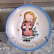 Hummel 1979 Christmas Starlight Angel Plate