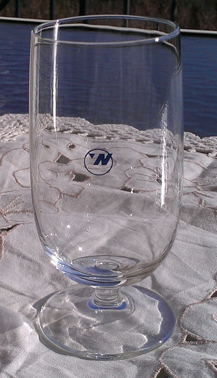 Northwest Airlines Wine Glass