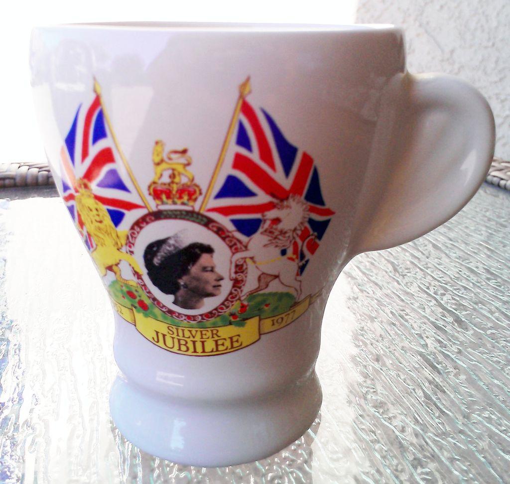Vintage 1977 Queen Elizabeth II Silver Jubilee Celebration Cup
