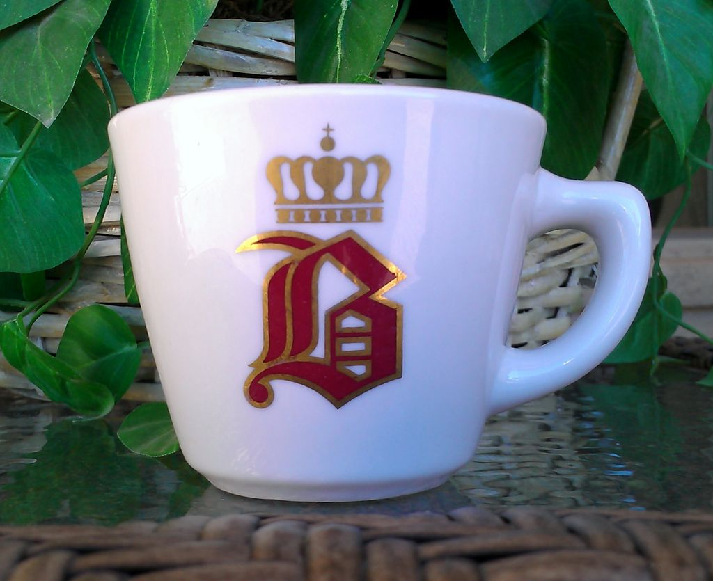 "Vintage Jackson China Coffee Cup Old English ""B"" with Crown"
