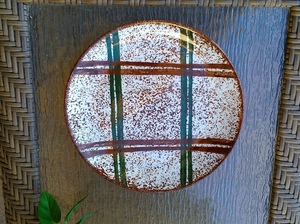 Blue Ridge Southern Potteries Rustic Plaid Dinner Plate 9 5/8""