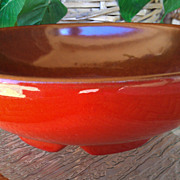 Frankoma Pottery Lazy Bones Flame Red Bowl