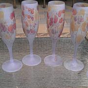 Schott Zwiesel Frosted Champagne Flute Stemware Set