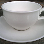 Iroquois Casual White Russel Wright Coffee Cup & Saucer Set