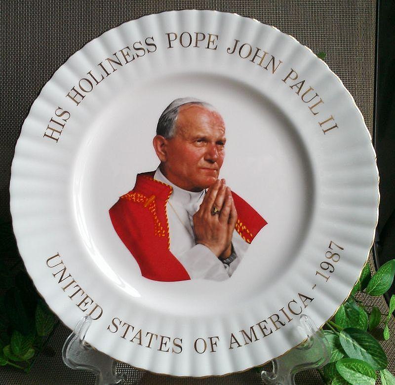 Pope John Paul II Commemorative Plate by Royal Albert China England