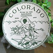 Colorado Rush to the Rockies Centennial Commemorative Plate