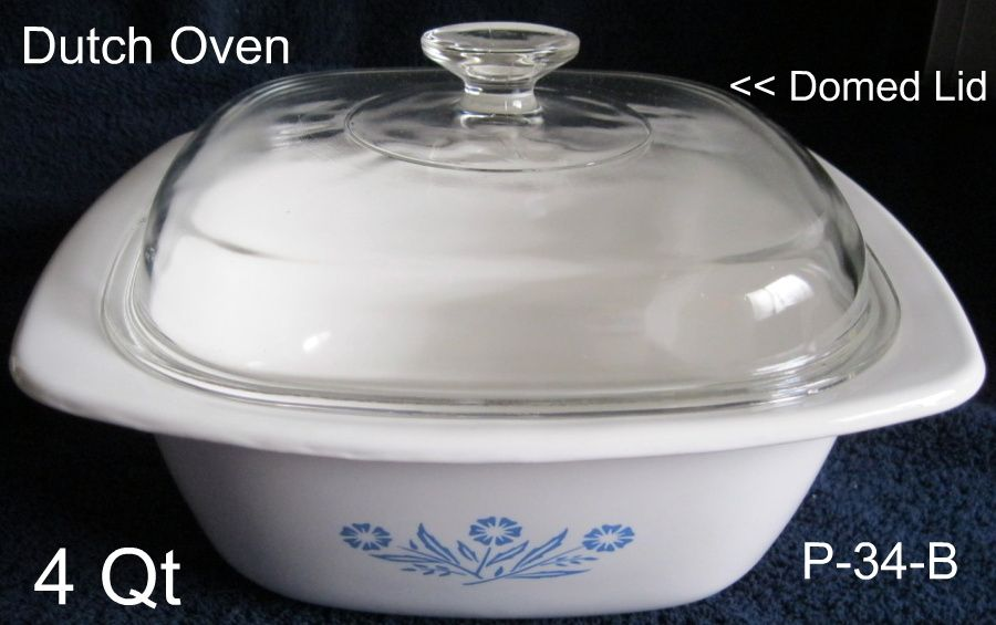 Corning Cornflower Dutch Oven P-34 4 Qt