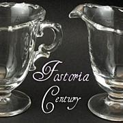 Fostoria Crystal Century Creamer & Sugar set