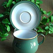 Denby/Langley Regency Green Cup & Saucer Set