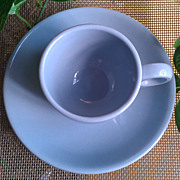 Buffalo China Blue Lune Demitasse Cup & Saucer Set
