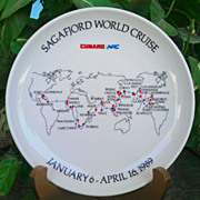 Sagafjord 1989 World Cruise Rosenthal Commemorative Plate