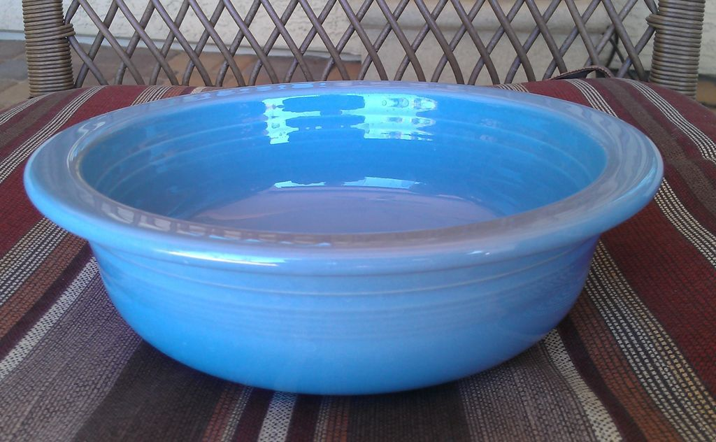 Homer Laughlin Periwinkle Blue Round Serving Bowl