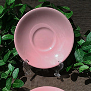 Sterling China Shell Pink Saucer Set