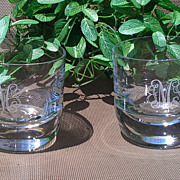 "Block Crystal Monogram Tumbler Set - ""JSM"""