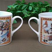 Royal Vale China Millennium Mug Set