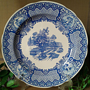 "Spode Blue Room Collection Seasons ""June"" Plate"