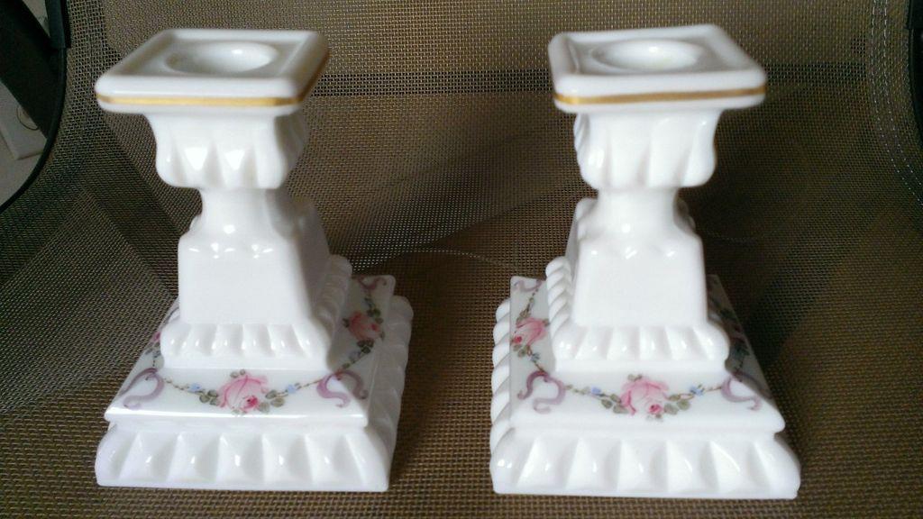 Westmoreland Wedding Roses & Bows Candlestick Set